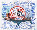 Autographs:Photos, New York Yankees Greats Multi-Signed Oversized Photograph (70+ Signatures)....
