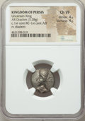 Ancients:Oriental, Ancients: PERSIS KINGDOM. Uncertain King II (1st century BC-1st century AD). AR drachm (17mm, 3.28 gm). NGC Choice VF 4/5 - 4/5....