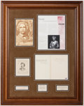 Miscellaneous Collectibles:General, c. 1906 Mark Twain Signed Display....