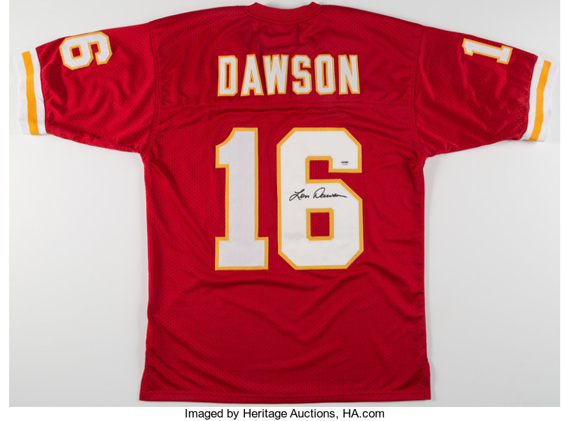 separation shoes 189f1 6ba97 Len Dawson Signed Kansas City Chiefs Jersey. ... Autographs ...
