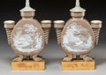 Lighting:Lamps, A Pair of French Pâte-sur-Pâte Porcelain Vases Mounted as Lamps, late 19th century with later elements. 21-1/8 x 8 x... (Total: 2 Items)