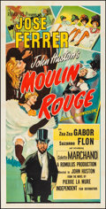 "Movie Posters:Drama, Moulin Rouge (Independent Film, 1953). Folded, Very Fine. BritishThree Sheet (41"" X 79"") Macario ""Mac"" Gomez Artwork. Drama..."