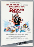 """Movie Posters:James Bond, Octopussy (MGM/UA, 1983). Very Fine. British Royal World Premier Program (Multiple Pages, 8.5"""" X 11.5"""") & New York Subway (5..."""
