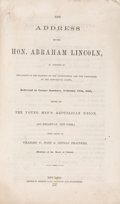 Political:Small Paper (pre-1896), Abraham Lincoln: Rare Cooper Union Imprint Published by George F. Nesbitt....