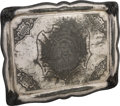 Political:3D & Other Display (pre-1896), Ulysses S. Grant: Elaborately Engraved Serving Tray....