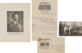 "Autographs:Celebrities, William F. ""Buffalo Bill"" Cody: 1897 ALS to President GroverCleveland.... (Total: 2 Items)"