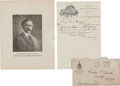 "Autographs:Celebrities, William F. ""Buffalo Bill"" Cody: 1902 Autograph Letter Signed[ALS].... (Total: 2 Items)"