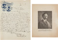 """Autographs:Celebrities, William F. """"Buffalo Bill"""" Cody: 1896 Autograph Letter Signed[ALS].... (Total: 2 Items)"""