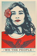 Prints & Multiples:Print, Shepard Fairey (American, b. 1970). We the People (three works), 2017. Offset lithographs in colors on speckled paper. 3... (Total: 3 Items)