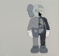 KAWS (American, b. 1974) Dissected Companion (Grey), 2006 Screenprint in colors on paper 20 x 20
