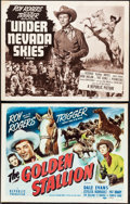 "Movie Posters:Western, The Golden Stallion & Other Lot (Republic, R-1956). Very Fine-.Title Lobby Cards (2) (11"" X 14""). Western.. ... (Total: 2 Items)"