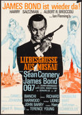 """Movie Posters:James Bond, From Russia with Love (United Artists, R-1970s). Folded, Fine/Very Fine. German A1 (23.25"""" X 33""""). James Bond.. ..."""