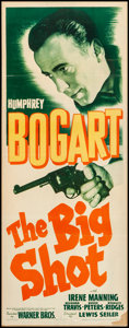 "Movie Posters:Crime, The Big Shot (Warner Brothers, 1942). Fine+ on Cardstock. Insert (14"" X 36""). Crime.. ..."