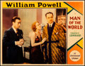"Movie Posters:Romance, Man of the World (Paramount, 1931). Very Fine-. Lobby Card (11"" X14""). Romance.. ..."