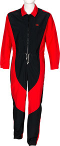 Music Memorabilia:Costumes, Elton John Personally Owned Nike Red and Black Jumpsuit....