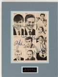 Music Memorabilia:Memorabilia, Beach Boys Magazine Cut-Out Signed By Most of the Beach Boys. ...