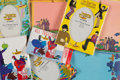 Music Memorabilia:Memorabilia, Beatles Large Lot of Yellow Submarine Stationery, Picture Frames, and Cards....