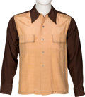 Music Memorabilia:Memorabilia, Elvis Presley Two Tone Brown Shirt....