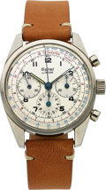Timepieces:Wristwatch, Gallet by Racine, Multichron 12 Excelsior Park Chronograph, Stainless Steel, Circa 1970s. ...