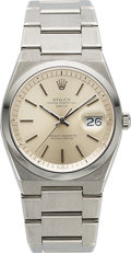 Timepieces:Wristwatch, Rolex, Rare Ref. 1530 Oyster Perpetual Date, Automatic, Stainless Steel, Circa 1976. ...