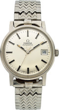 Timepieces:Wristwatch, Omega, Automatic with Date, Stainless Steel, Ref. 166.070, Circa 1971. ...