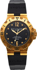 Timepieces:Wristwatch, Bvlgari, Diagono Scuba 200m, 18K Yellow Gold, Automatic, Ref. SD 38 G, Circa 2000s. ...