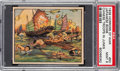 Non-Sport Cards:Singles (Pre-1950), 1938 R69 Horrors of War - Japanese Bomb Chinese Troops In Junks #50 PSA Mint 9 - Pop Two, None Higher. ...