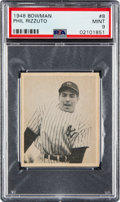 Baseball Cards:Singles (1940-1949), 1948 Bowman Phil Rizzuto (Short Print) #8 PSA Mint 9 - None Higher. ...