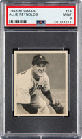 Baseball Cards:Singles (1940-1949), 1948 Bowman Allie Reynolds #14 PSA Mint 9 - None Higher. ...