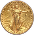 High Relief Double Eagles, 1907 $20 High Relief, Wire Rim --Damaged -- PCGS Genuine....