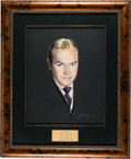 Movie/TV Memorabilia:Original Art, Bob Hope CENSORED Club Framed Portrait Signed By Artist NicholasVolpe....