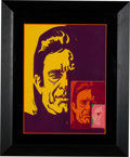 Music Memorabilia:Original Art, Johnny Cash Painting by Bob Peak Signed by the Artist. ...