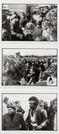 Music Memorabilia:Photos, Jimi Hendrix Love and Peace Festival Black and White Photos and Negatives With Copyright/Exploitation Rights Assignment (1970)...