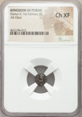 Ancients:Oriental, Ancients: PERSIS KINGDOM. Darius II (ca. 1st century BC). AR obol (9mm, 6h). NGC Choice XF....