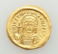 Ancients:Byzantine, Ancients: Justinian I the Great (AD 527-565). AV solidus (21mm,4.52 gm, 5h). AU....