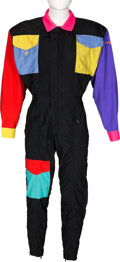 Music Memorabilia:Costumes, Elton John Personally Owned Multi-Colored Jumpsuit....