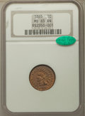Indian Cents: , 1865 1C Fancy 5 MS65 Brown NGC. CAC. PCGS Population: (20/1). CDN: $450 Whsle. Bid for problem-free NGC/...