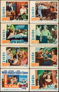 "Movie Posters:Western, North to Alaska (20th Century Fox, 1960). Overall: Fine/Very Fine. Lobby Card Set of 8 (11"" X 14""). Western.. ... (Total: 8 Items)"