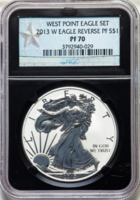 2013-W $1 Reverse Proof, West Point Mint Set PR70 NGC. NGC Census: (4860). PCGS Population: (1716). ...(PCGS# 517987)
