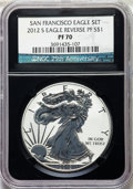 2012-S $1 Silver Eagle, Reverse Proof, 75th Anniversary Set PR70 NGC. NGC Census: (0). PCGS Population: (1491). ...(PCGS...