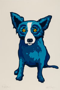 George Rodrigue (1944-2013) Untitled, 1998 Screenprint in colors on paper 35 x 24 inches (88.9 x