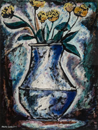 Rolph Scarlett (1889-1984) The Blue Vase, n.d. Monotype in colors on paper 29 x 21-1/2 inches (73