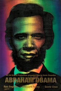 Ron English (b. 1959) Abraham Obama (Gold Lettering), 2009 Lenticular rainbow flip print 36 x 24 inches (91.4 x 61.0