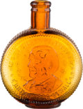"Political:3D & Other Display (1896-present), William Jennings Bryan: Amber Glass ""Silver Dollar"" Whiskey Flask...."