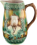 Political:3D & Other Display (pre-1896), James A. Garfield: Large Majolica Pitcher....