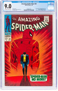 Silver Age (1956-1969):Superhero, The Amazing Spider-Man #50 (Marvel, 1967) CGC VF/NM 9.0 Off-white to white pages....