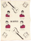 Music Memorabilia:Memorabilia, Beatles Cream-Colored Wool Blanket (1964). ...