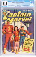 Golden Age (1938-1955):Superhero, Captain Marvel Adventures #18 (Fawcett Publications, 1942) CGC FN- 5.5 Off-white to white pages....