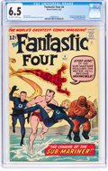 Silver Age (1956-1969):Superhero, Fantastic Four #4 (Marvel, 1962) CGC FN+ 6.5 Off-white to white pages....