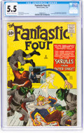 Silver Age (1956-1969):Superhero, Fantastic Four #2 (Marvel, 1962) CGC FN- 5.5 Off-white to whitepages....
